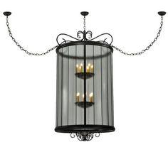 "36""W Brio Victorian Gothic Lantern Pendant"