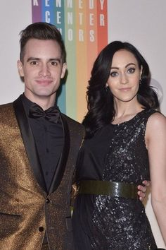 American singer, Brendon Urie and his wife Sarah Orzechowski...