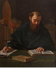 Caravaggio (1571-1610) (attr.) -  Sant'Agostino - ca. 1600 - Collezione privata