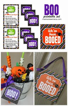 You've Been Booed! FREE Printable set! Start this tradition with your kids this month! www.makinglifewhimsical.com #halloween #boo