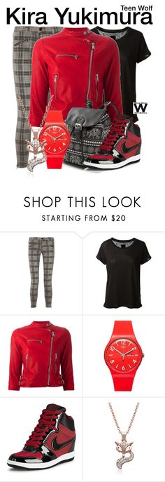 """""""Teen Wolf"""" by wearwhatyouwatch ❤ liked on Polyvore featuring Current/Elliott, RtA, Dolce&Gabbana, Swatch, NIKE, Adoriana, television and wearwhatyouwatch"""