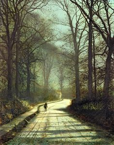 Michael Atkinson Art for Sale | ... Atkinson Grimshaw - Moonlight Walk Fine Art Prints and Posters for