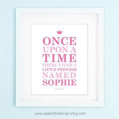 Little Princess Nursery Print - too funny that is going to be our little girls name... Sophia :)