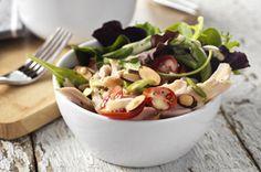 Garden-Fresh Turkey Salad with Dijon-Poppy Seed Dressing recipe #HealthyLivingRecipes