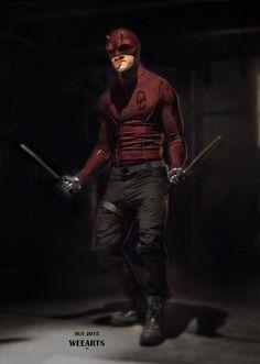 "Concept art of Daredevil / Matt Murdock from Marvel's ""Daredevil"" (2015)."