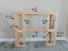 DIY fireplace frame dimensions for craftsman style fireplace How to build a faux fireplace surround, add an electric insert for instant cozy ambiance! Tutorial, video and plans to build this fireplace in a weekend. Fireplace Surround Diy, Electric Fireplace Surround, Faux Fireplace Mantels, Fireplace Frame, Diy Mantel, Build A Fireplace, Fireplace Remodel, Fireplace Surrounds, Fireplace Design