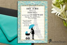 """""""Bebe Soiree""""   french for a Paris Baby Shower Theme"""