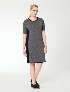 Жаккард платье с боковыми панелями