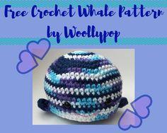 Crochet whale, free pattern by Woollypops