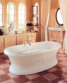 "Neptune Ulysse Activ-Air Tub 71 1/2"" x 37-7/8"" x 22-3/4""- UL72A #BlondyBathHome #BathroomRemodel #BathtubIdeas #FreeStandingBathtub"