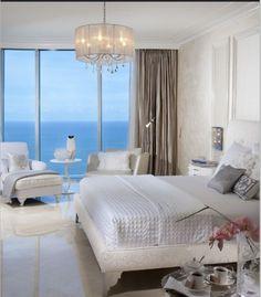 A fresh, crisp and calming bedroom