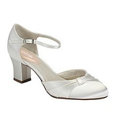0b60184e14f Pink by Paradox London - Ivory satin  Maple  mid heel shoe Blue Satin Shoes