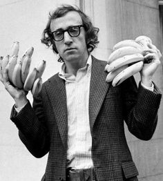 Woody Allen with bananas.
