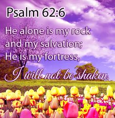 daily inspirational scriptures | Inspirational Bible Verse: I will not be shaken
