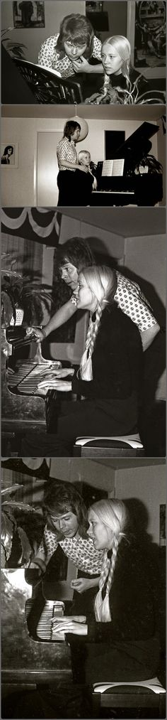 Agnetha with Björn in 1972