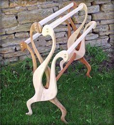 Beautiful quilt rack! intricate design.