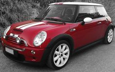 My Mini Cooper S with white/red stripes! Love it!!!