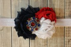Hey, I found this really awesome Etsy listing at https://www.etsy.com/listing/228768840/4th-of-july-headband-shabby-chic-red