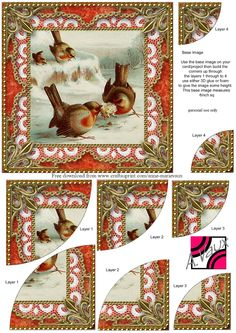 Xmas robin decoupage sheet