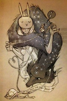 The wonderful drawings of Chiara Bautista, the Cosmic Wolf and the Bunny Girl ♥ Art And Illustration, Illustrations, Chiara Bautista, Art Design, Love Art, Amazing Art, Fantasy Art, Concept Art, Art Drawings