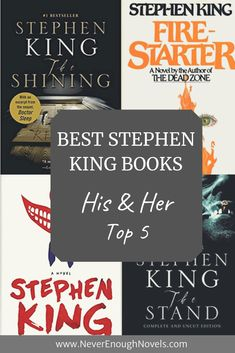 The best Stephen King lists. Jay and I each picked our Top 5 Stephen King novels. Also included is a complete list of his novels in chronological order. Which Stephen King is your favorite?
