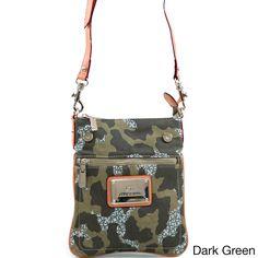 9d816ca89323 Anais Gvani Women s Green Camouflage Messenger Bag Green Colors