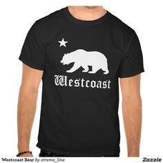 Westcoast Bear #California T-Shirt. #Zazzle