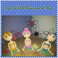Topos de Bolos Princesas do Mar