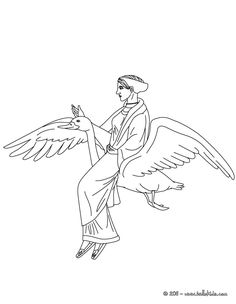 Kleurplaat APHRODITE the Greek goddess of love coloring page