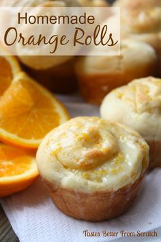 Homemade Orange Rolls | Tastes Better From Scratch - These FOOL-PROOF light and fluffy orange rolls are soo easy to make!