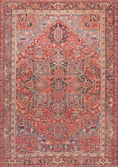 Antique Persian Heriz Carpet : Lot 108