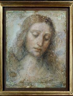 Leonardo-da-Vinci - sketch for the Head of Christ in the Last Supper fresco (Testa-di-Cristo) Brera, Milan