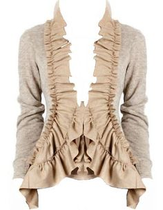 Ruffle Cardigan. i think this is free people clothing. if i'm wrong somebody please let me know. K!