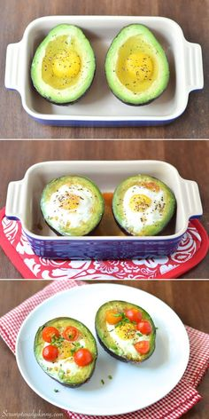 Baked Egg in Avocado Nest - Full of protein, high-fiber, low-carb, sugar-conscious, and beautifully colorful breakfast! This will keep you full and start your day off right!