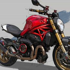"""DucatiSpecial on Instagram: """"❗I like this Ducati Monster artwork ❗ Contact @drawspots in DM with code DUCATISPECIAL to buy customized artworks  of your motorbike!…"""""""