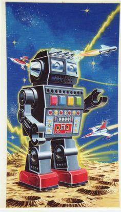 Cool Vintage Robot Art | Flickr - Photo Sharing!