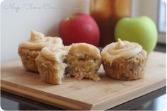 Start your fall baking with these marvelous Apple Cupcakes with Salted Caramel Frosting (Nap-Time Creations)
