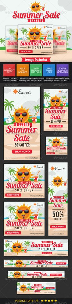 Summer Sale Banners Template PSD | Buy and Download: http://graphicriver.net/item/summer-sale-banners/7678939?WT.ac=category_thumb&WT.z_author=doto&ref=ksioks