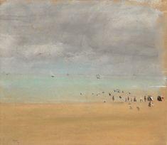 Edgar Degas (1834-1917) Beach at low tide (Plage à marée basse), 1869