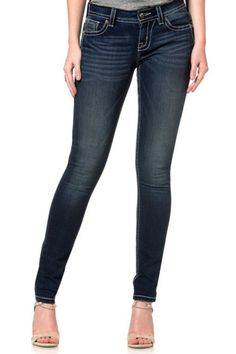Machine Wash Separately In Cold Water Front Rise: 8 ; Back Rise: 13  Inseam: 31 Pair This go to jeans with your favorite tops for any occasion!  Angelic Mid-Rise Skinny by Miss Me. Clothing - Bottoms - Jeans & Denim Tennessee