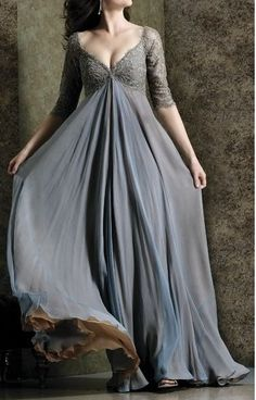 Grey Sleeved Dress