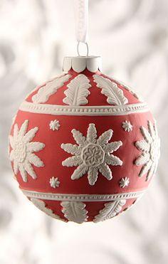 Wedgwood Ornament Santa Cameo Red Christmas Pinterest