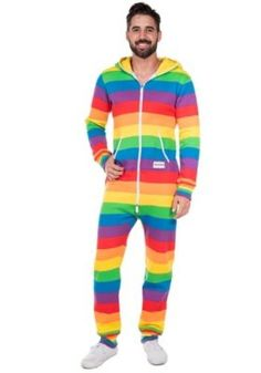 Are you looking for the most colorful piece of clothing in the world? Tipsy Elves has you covered with our Men's Rainbow Jumpsuit. Colourful Outfits, Colorful Fashion, Colorful Clothes, Rainbow Flag, Rainbow Colors, Rainbow Outfit, Rainbow Clothes, Rainbow Costumes, Elf Man