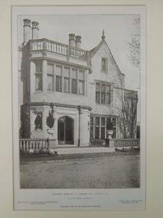 Entrance, House of J. J. Albright, Buffalo, NY, 1906, Lithograph