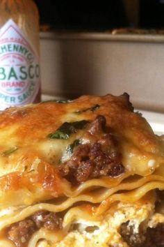 Grandmas Best Ever Sour Cream Lasagna Recipe Casserole Recipes, Meat Recipes, Cooking Recipes, Lasagna Recipes, Salad Recipes, Recipies, Dinner Recipes, Dinner Dishes, Food Dishes