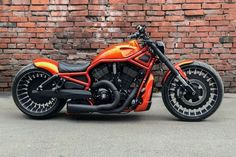 Awesome custom bike Harley-Davidson Night Rod Special Orange by Harley Davidson Night Rod, Harley Davidson Chopper, Harley Davidson Motorcycles, Custom Motorcycles, Scrambler Custom, Night Rod Special, Harley V Rod, Harley Bikes, Custom Street Bikes