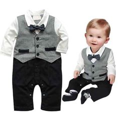 """Universe of goods - Buy """"Baby Boy Suit For Wedding 2015 New Terno Bebe Menino Casamento Wedding Suits For Baby boys Newborn Baby Clothes set"""" for only USD. Baby Boys, Baby Boy Suit, Baby Boy Romper, Toddler Boys, Baby Pants, Kids Boys, Infant Toddler, Hot Boys, Baby Outfits Newborn"""