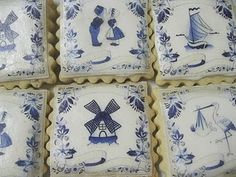 Love these blue dutch tile cookies