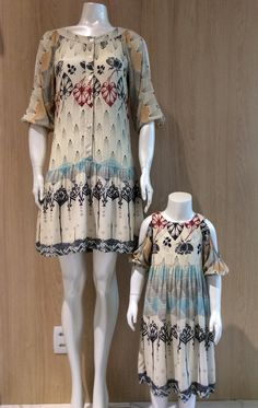 Vestido Feminino adulto e infantil Print polka dots  Estampa poá  Fashion dress Mãe e filha iguais Dia das Mães