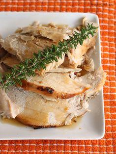 Sliced breast reheating turkey